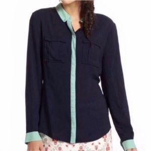 Anthropologie Maeve Button Up Shirt Blouse